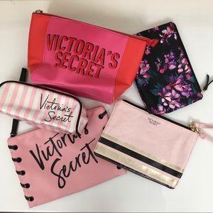 Victoria's Secret Cosmetic Makeup Bag Bundle Of 5